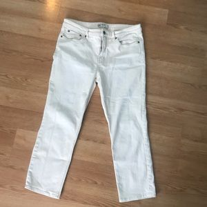 Free People off white straight leg jeans
